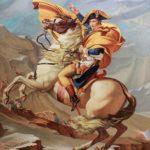 Bonaparte traversant le col du Grand Saint Bernars d'après J.L. David par Alexandra Astorquiza.